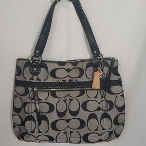 Coach Large Poppy Grey/Black/Silver Bag